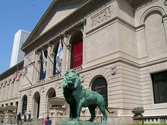 the lion at institute of art chicago