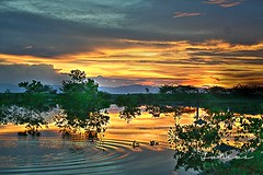Ripples (J u l i u s) Tags: city sunset sky sanantonio clouds river gold philippines ripples hdr refection leyte 6541 ormoc iipcphoto