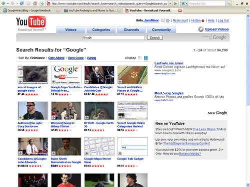 YouTube Suchergebnisse thumbnail