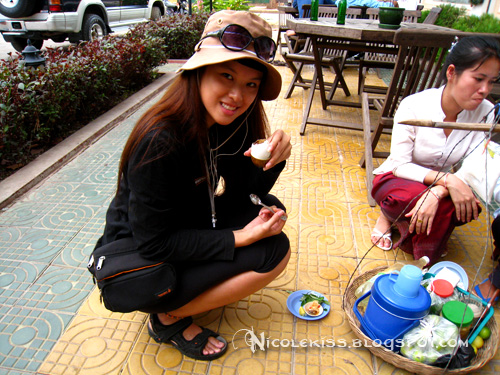 me eating duck fetus egg in siem reap cambodia