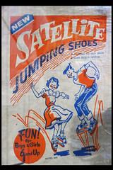 satellite jumping shoes 02 (museum vd 20e eeuw hoorn 2016) (Klaas5) Tags: netherlands holland ©picturebyklaasvermaas niederlande paysbas nederland vormgeving museum museumvande20eeeuw museumofthe20thcentury exhibition tentoonstelling midcenturydesign toy speelgoed
