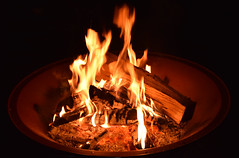 Halloween Fire (tanium32) Tags: orange flames fire pit halloween vignette warm hampton nh nikon d3300