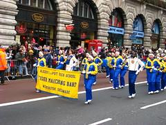 New Year's Day Parade (Tetramesh) Tags: uk greatbritain england london unitedkingdom britain piccadilly londres delaware wilmington londra newyearsday londen lontoo londyn londn newyearsparade  newyearsdayparade londona newyearparade londonas tetramesh  tigermarchingband newyearsparade2009 newyearsdayparade2009 alexisiduponthighschool aidupontmarchingband londonnewyears 2009londonnewyearparade londonnewyearparade2009 londonnewyear2009parade geo:lat=51509026 geo:lon=0137087 londr