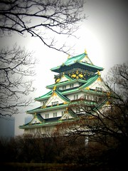 Osaka-jo (2007) (jpellgen) Tags: castle japan canon japanese march ruins asia a95 powershot  keep  nippon osaka samurai kansai nihon picnik 2007 lomoish osakajo  kinki honshu  hideyoshi donjon  tenshu hideyori  ishiyamahonganji