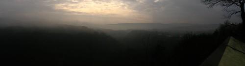 Misty morning near Škocjanske Caves, Slovenia