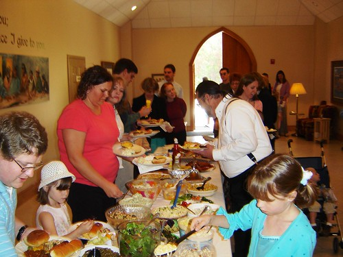 Easter lunch at King of Peace