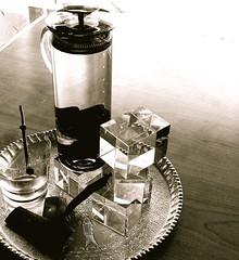 b/L water pitcher (gabo_) Tags: water bouletteslarder bamboo charcoal transparency ferrybuilding pitcher wallstreetjournal janeslumixleicalens