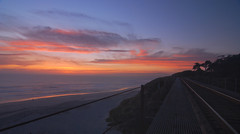 Convergent lines (surfwax) Tags: railroad sunset geometry pair laselvabeach supershot d80 artizen tokina1424