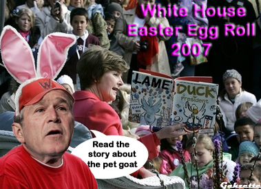Bush Easter Egg Roll