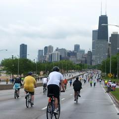 Bike the Drive (Timothy State) Tags: urban lake chicago bike festival lakeshoredrive chicagoist bikethedrive timothystate