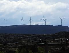 Clean Power (trondjs) Tags: nature norway canon spring energy power wind zoom windmills powerlines tele powerline mills sørtrøndelag windenergy trøndelag hitra cleanenergy s3is trondjs