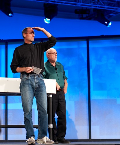 Steve Jobs and Walt Mossberg