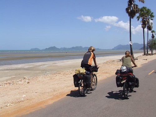 Wonderful cycling south of Prachuap Khiri Khan..., Southern Thailand.