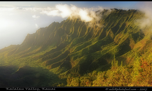 Sunset over Kalalau Valley