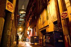 Both eyes open (Euan Forrester) Tags: night vancouver dark alley downtown interestingness9 donotenter harbourcentre garbagebin i500 explore8jun07