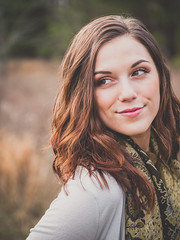 Paige (Vincent F Tsai) Tags: portrait girl pose turn cute field outdoor scarf smile panasonic lumixg7 sigma60mmf28dn