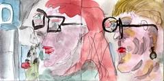 wo wollten wir wären wir frei (raumoberbayern) Tags: sketchbook skizzenbuch tram munich münchen bus strasenbahn pencil bleistift ballpoint paper papier robbbilder stadt city landschaft landscape spring frühling summer sommer lake trip bavaria germany airport nürnberg italiener kugelschreiber