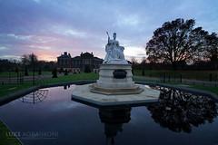 Queen Victoria - Kensington Palace Gardens - London (Luke Agbaimoni (last rounds)) Tags: queen victoria london uk england sunset park kensington gardens tree silhouette