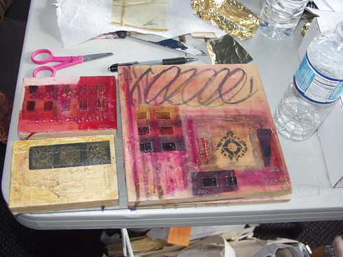student encaustic work