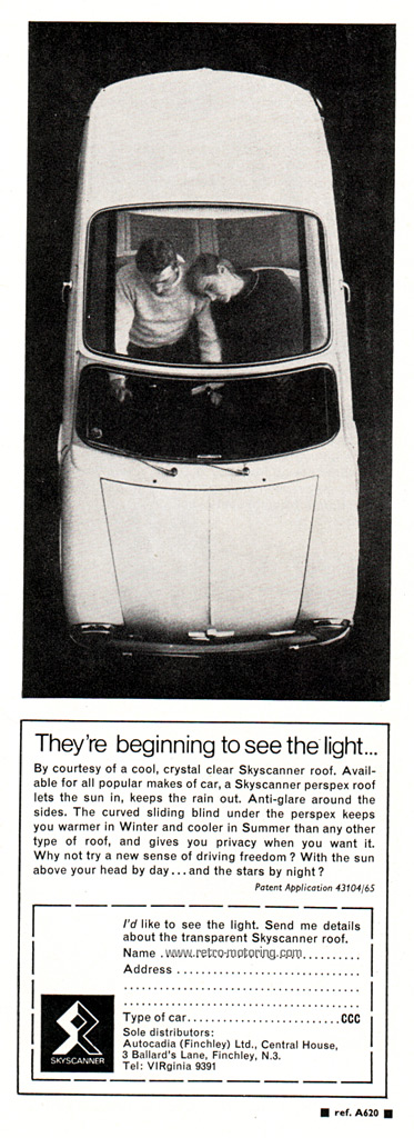 Austin Mini Skyscanner advert (by retromotoring)