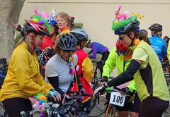 Easter helmets (TriLauraTri) Tags: decorations march easterbunny 2007 eastereggs bikehelmets cinderellaclassic