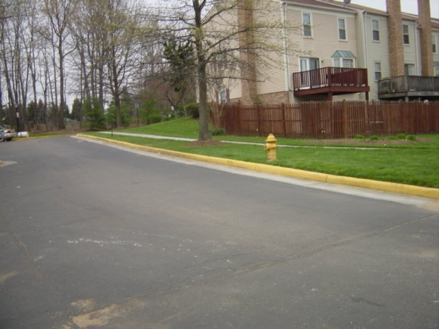 other side of street
