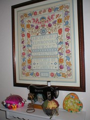 Mom - cross-stitch sampler