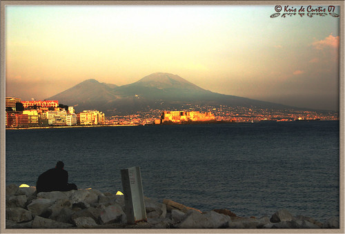 The Vesuvius from Mergellina ...