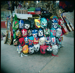 Wrestling Masks (Squid Ink) Tags: mexico holga market wrestling masks baja tijuana wrestlingmasks