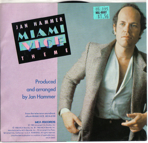 Miami Vice Theme verso with Jan Hammer, the 45 single