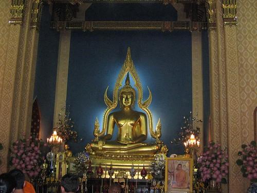 Buddha at Marble temple Thailand-พระพุทธชินราชจำลอง วัดเบญจมบพิตร