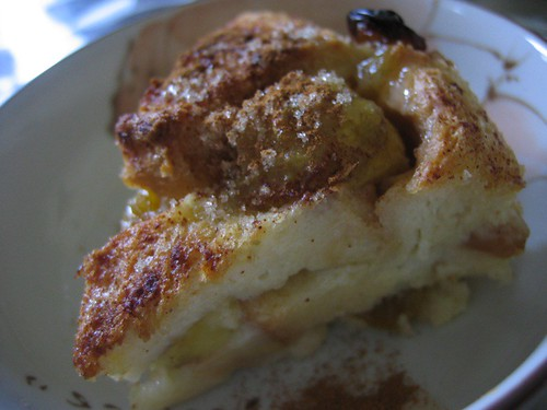 Mum's Banana Bread Pudding