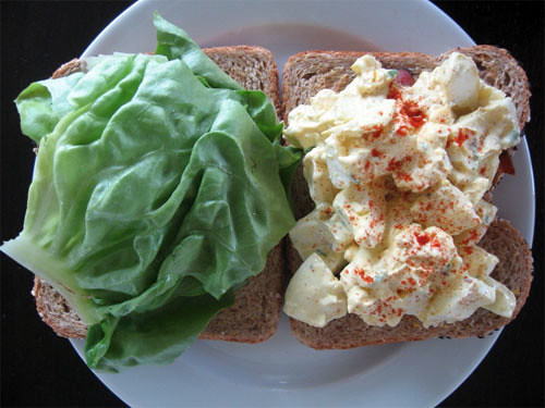My horribly delicious egg salad sandwich