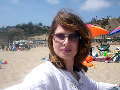 Me on the beach at Pacific Palisades