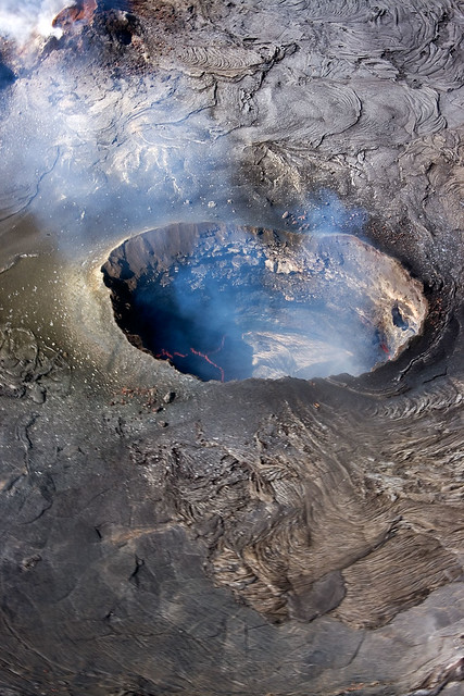 The active crater of Hawaii.