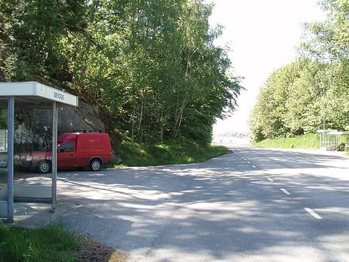 Busshållplats, bus stop, Brygge (2008)