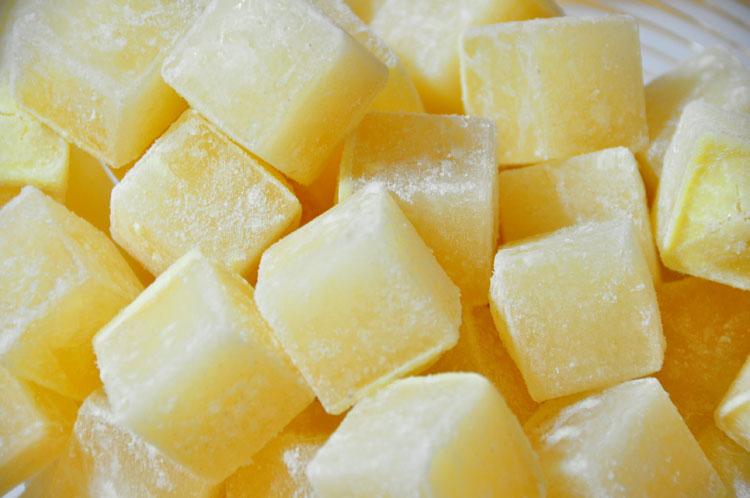 broth cubes close up
