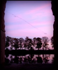 I see your true colors shining ... (kiplingflu) Tags: world trees reflection window water bomen war sundown spiderweb favme ieper battlefield ypres vauban