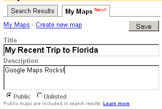 Create new Google My Maps