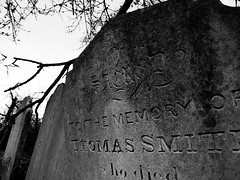 Thomas Smith (Mockney Rebel) Tags: blackandwhite bw grave graveyard photoshop fuji finepix fujis9600 againstflickrcensorship