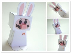 Mario - Bunny - (Warm 'n Fuzzy) Tags: rabbit bunny easter toy mariobros goodies papercraft papertoy