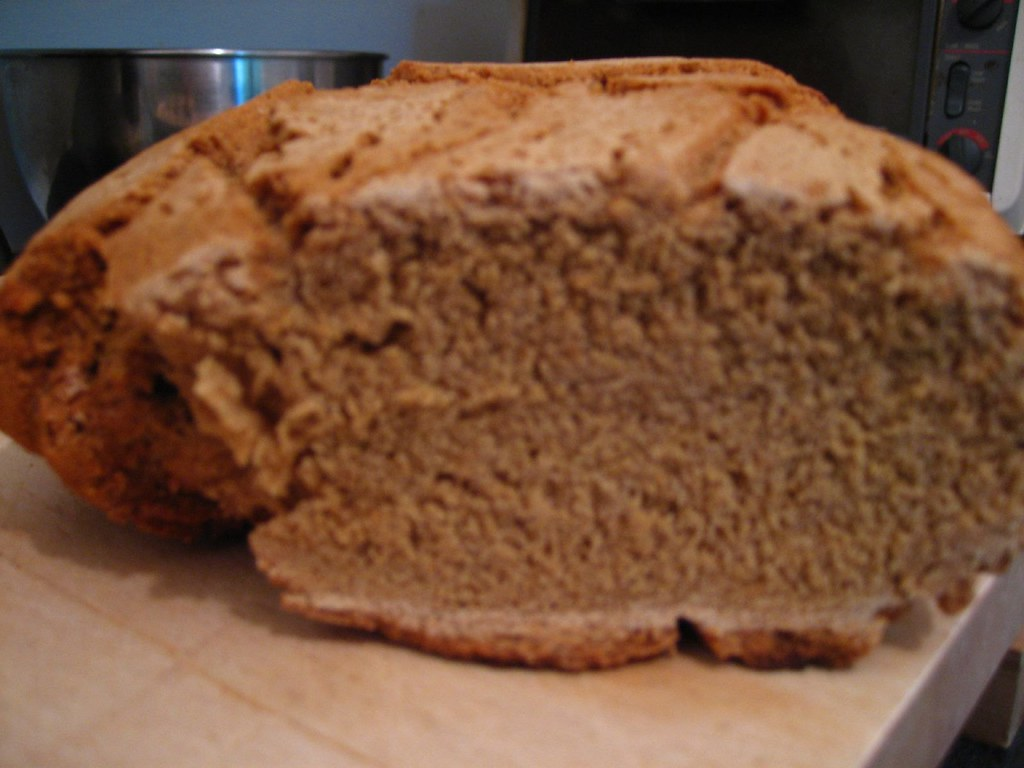 GF sorghum bread--sliced