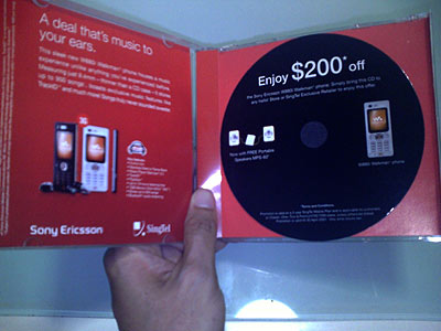 Singtel Junk Mail CD Case