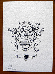 Fiery Fred Ink Drawing Squink Tags Cute Art Monster Japan Hammer Pen