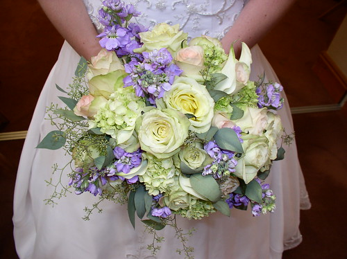 Green and Lavender Bouquet I had only done the consultation with the bride