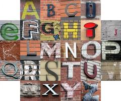 Letters on bricks