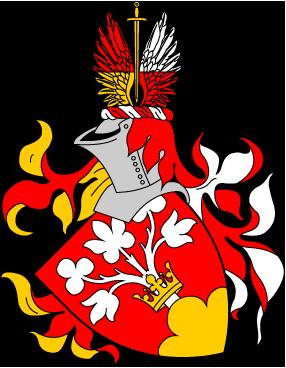 Våben: i rødt felt, voksende på en gylden høj, et hvidt træ med