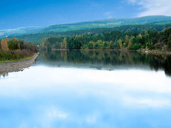 Landscape of ngermanlven, Sweden (Olof S) Tags: county wood blue summer lake seascape nature water skyline creek forest river landscape fz20 photography see landscapes photo interesting scenery aqua eau wasser europe view sweden schweden country lappland natur picture natura swedish panasonic lapland skog land environment nordic sverige blau northland pastoral scandinavia northern paysage landschaft wald foret paesaggio suede suecia norrland senso landskap manzara sj svezia szwecja vsternorrland