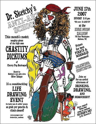 June 2007 Dr. Sketchy's poster