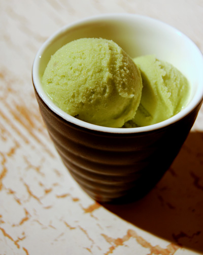 green ice-cream